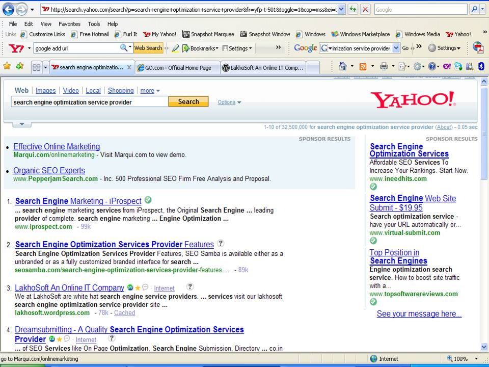 How-To Get Your BLOGS Site Feed Listed In Yahoo! and MSN