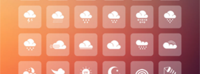 Freebie: Weather App Icon Set For Mobile and Web